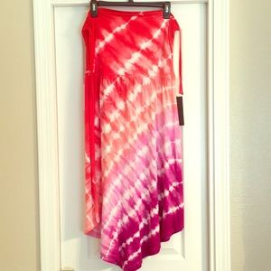 NWT INC XL Tie Dye Convertible Dress Skirt